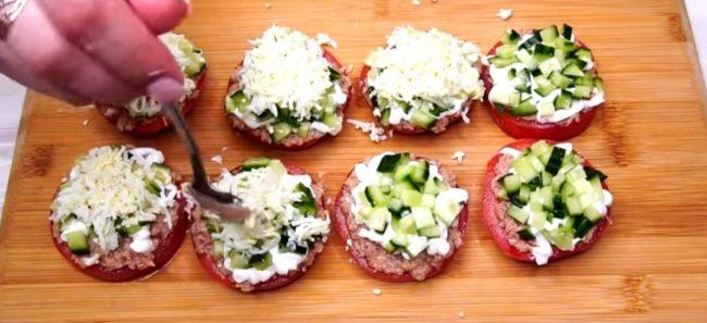 Рецепт приготовления помидоров «Под шубкой» за 20 минут