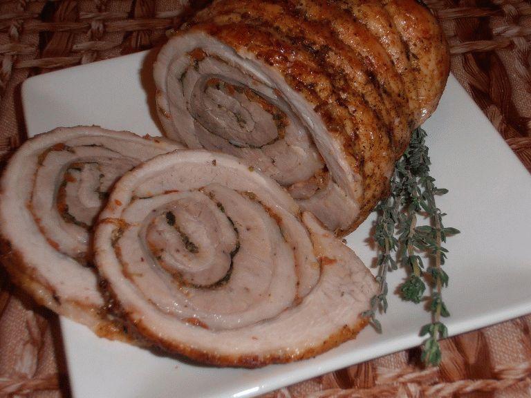как приготовить из свинины рулет